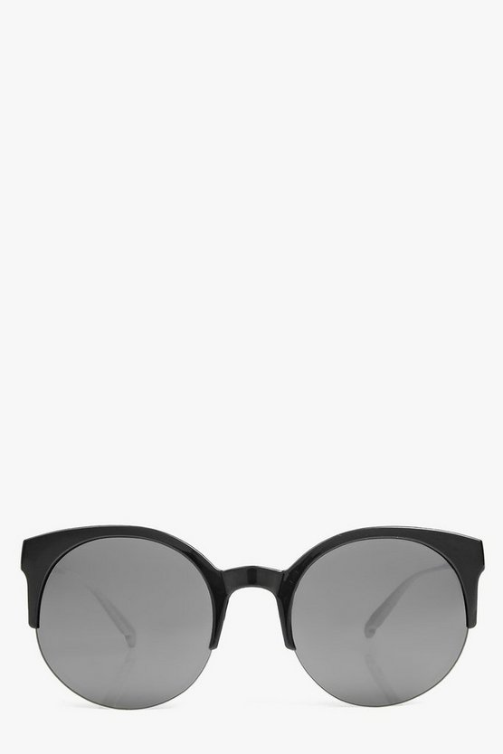 Lola Round Half Frame Round fashion glasses