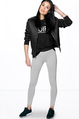 Charlie Contrast Waistband Basic Leggings