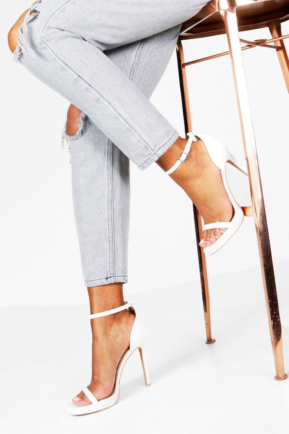 Elizabeth Single Platform Two Part Heels | Boohoo