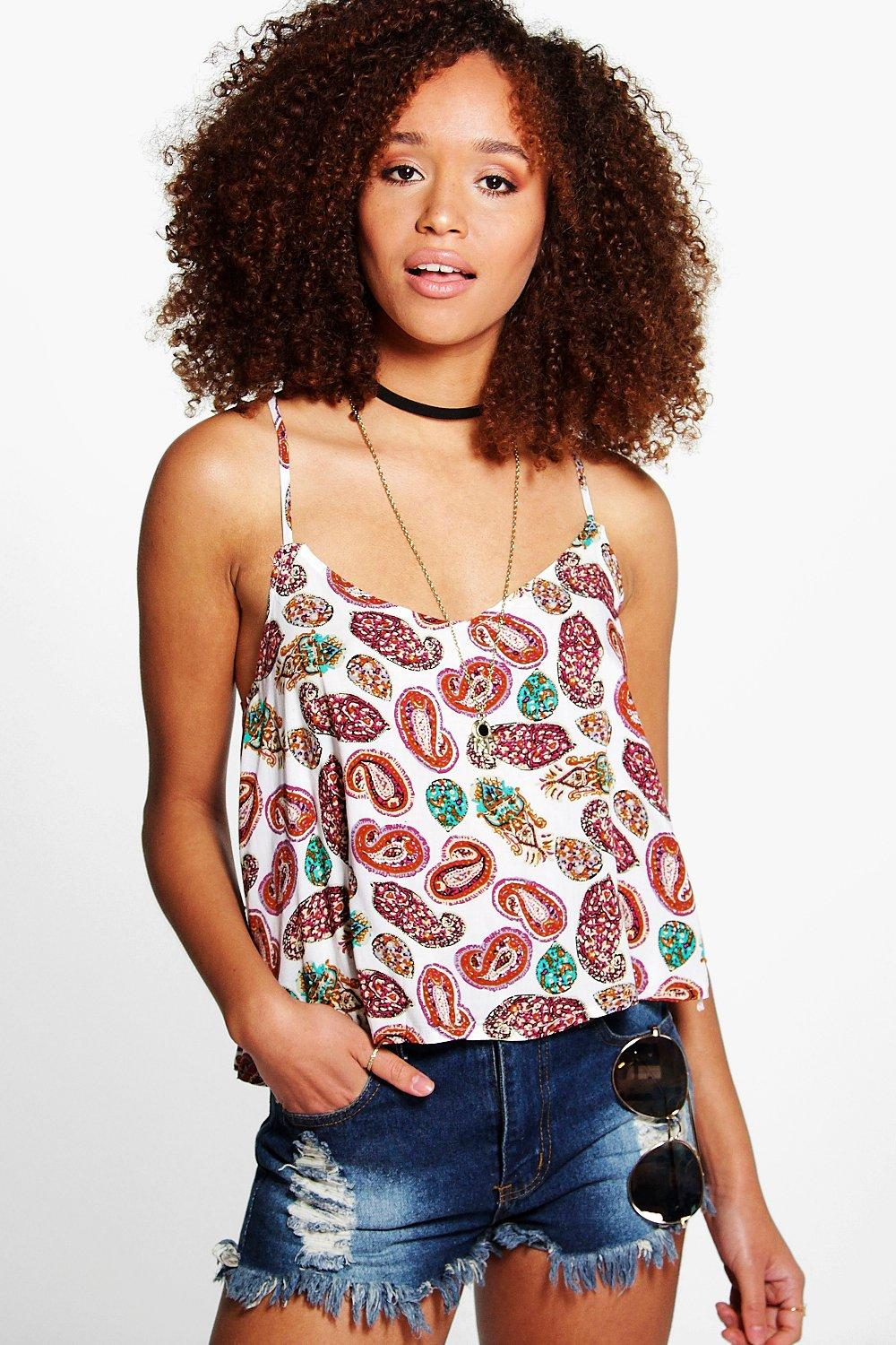 Lily Woven Paisley Print Cami