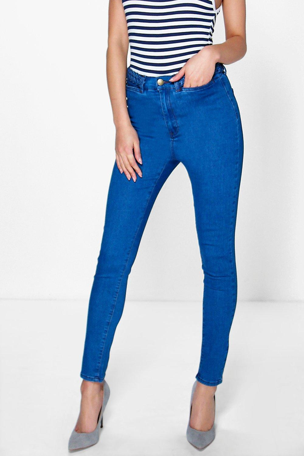 Olivia High Rise Plain Waisted Tube Jeans