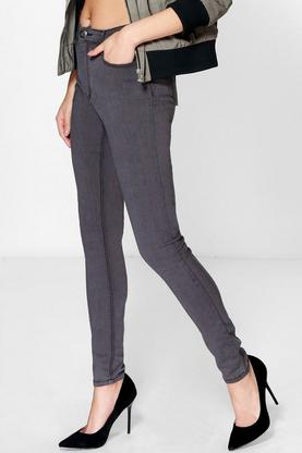 Connie 5-Pocket High Waisted Skinny Jeans