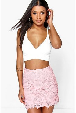 Boutique Narissa Crochet Mini Skirt