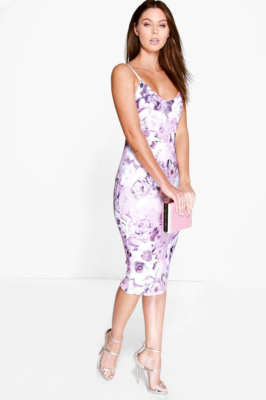 Carolinn Floral Midi Dress | Boohoo