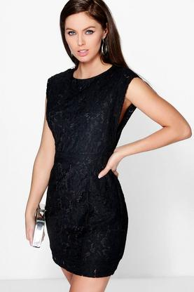 Boutique Lia Lace Open Side Bodycon Dress
