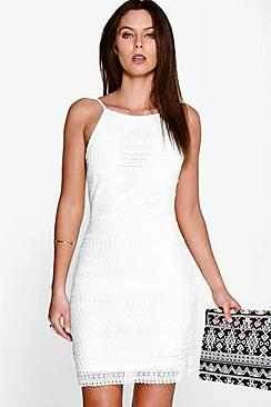 Dayanara Lace Strappy Bodycon Dress