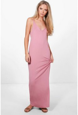 Indir Cross Back Strappy Maxi Dress