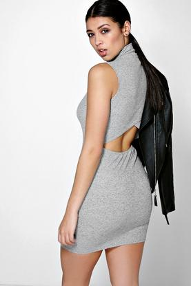 Annabelle High Neck Cut Out Bodycon Dress