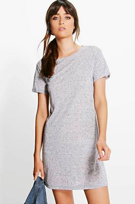 Nataly Cap Sleeve T-Shirt Dress