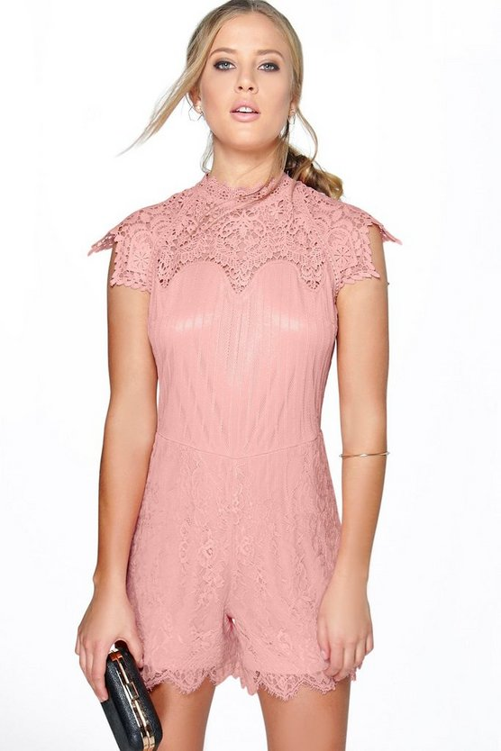 Boutique Lola High Crochet Playsuit