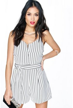 Zora Striped Cami Playsuit