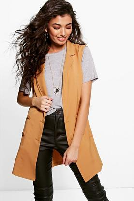 Sharlene Double Breasted Sleeveless Blazer