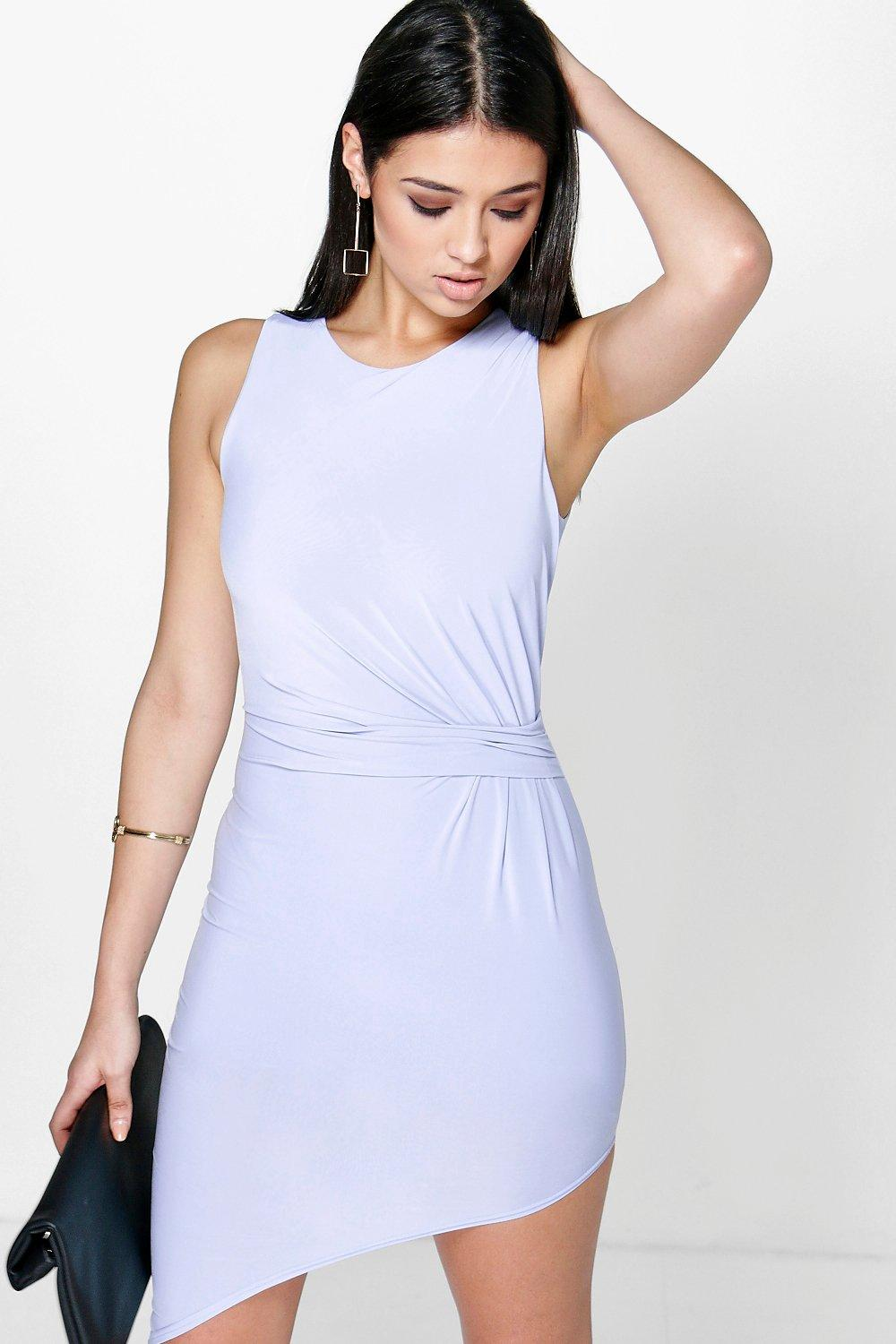 Vicky Slinky Gathered Drape Bodycon Dress