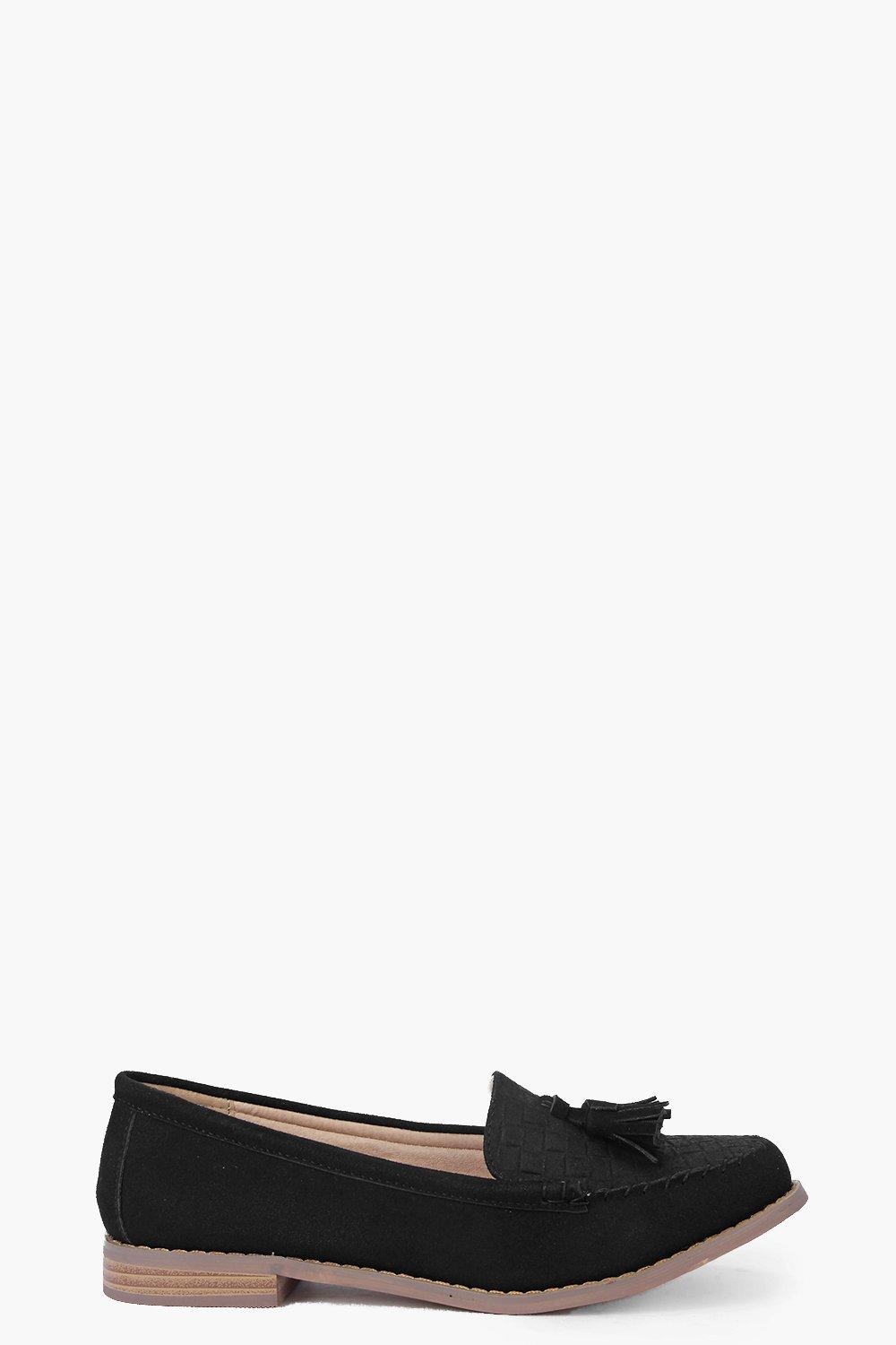 Lucy Woven Look Suedette Loafer