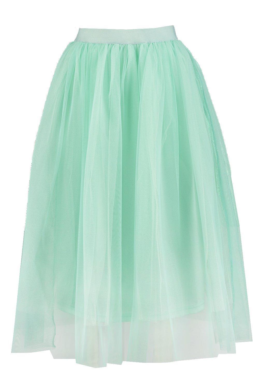 boohoo womens boutique aya tulle midi skirt ebay