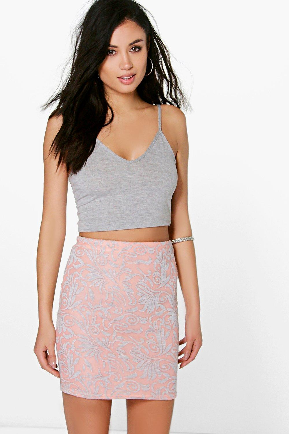 Royah Bonded Scuba Mini Skirt