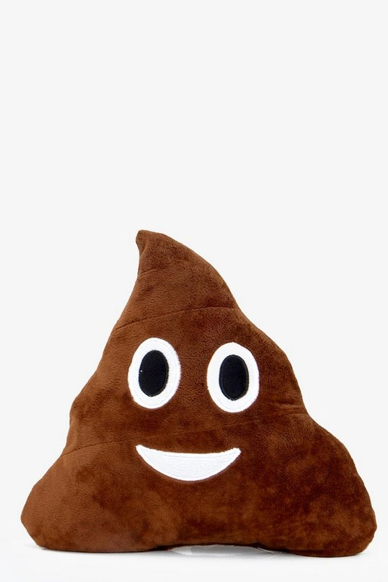 Poo Smiley Face Emoji Cushion