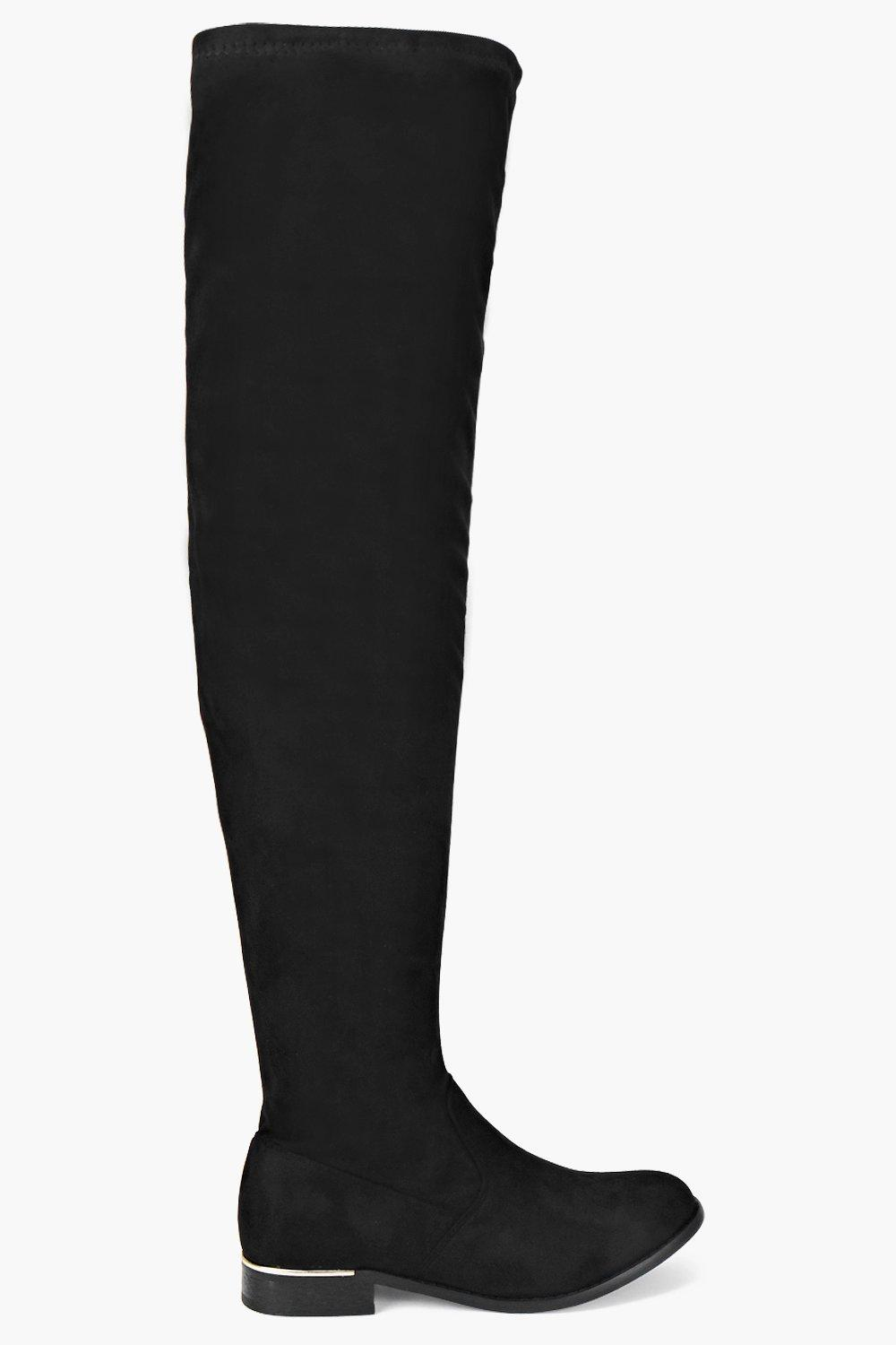 Scarlett Stretch Knee High Flat Boot