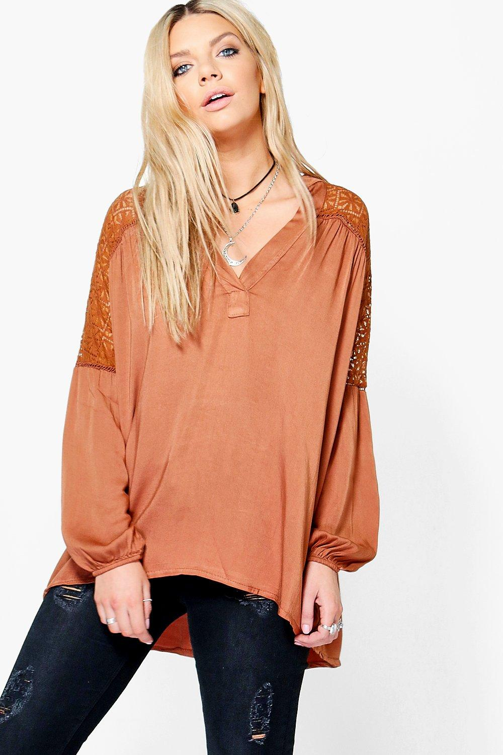 Mandy Crochet Trim Blouse