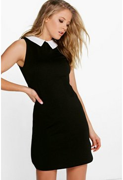 Sarah Sleeveless Collar Shift Dress
