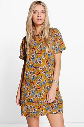 Kitanna Tropical Floral Shift Dress
