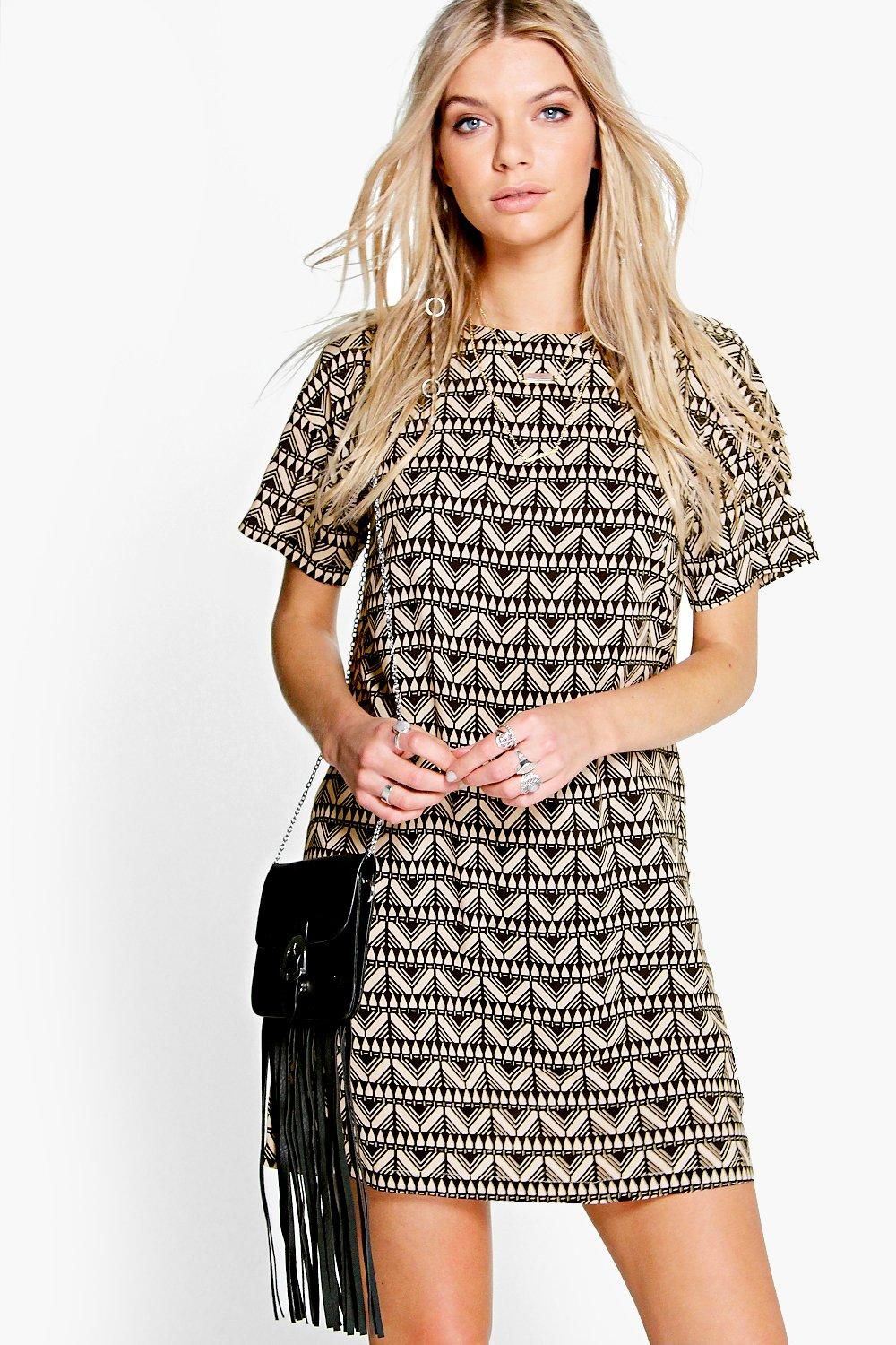 Doina Geo Print Shift Dress