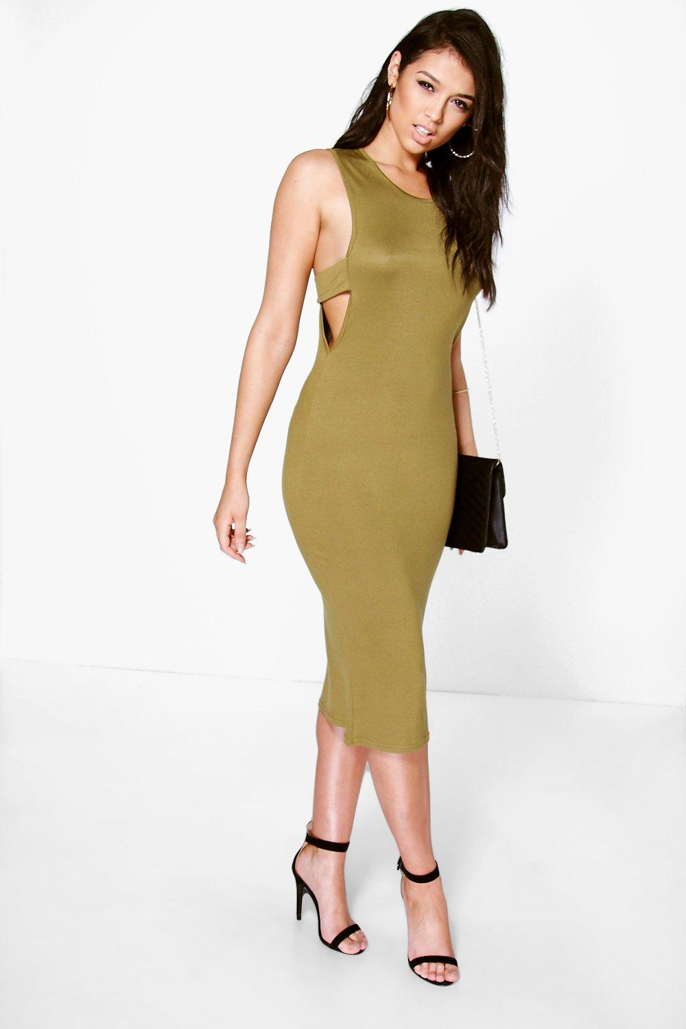Immie Sleeveless Back Detail Midi Dress