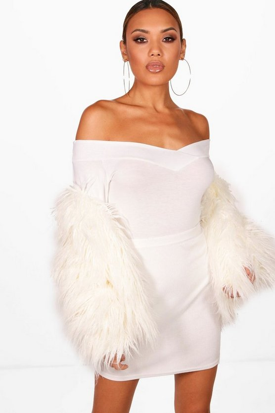 Off The Shoulder V Neck Long Sleeve Bodysuit