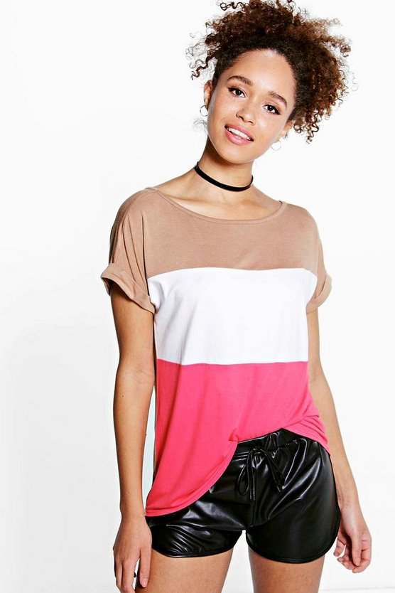 Rebecca Colour Block Oversized Tee