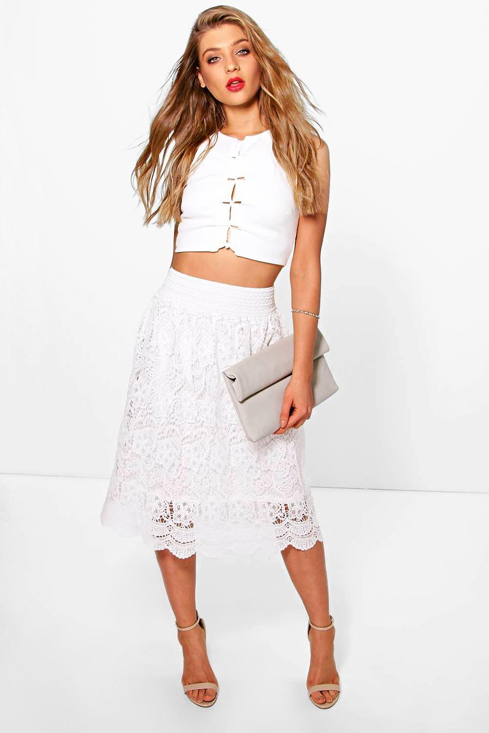 Lua Crochet Midi Skirt