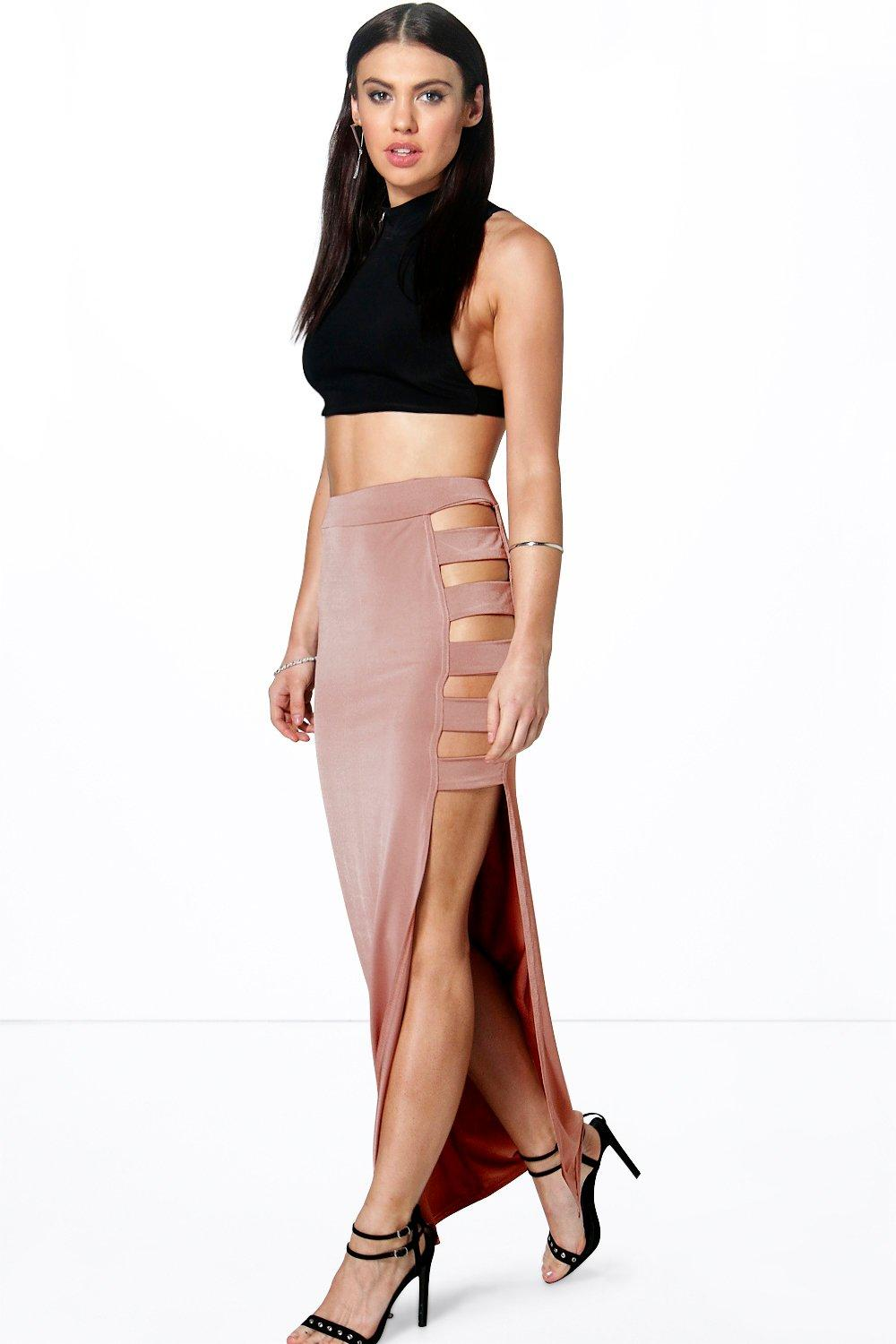 Ana Cut Side Slinky Maxi Skirt