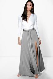 Long gray maxi skirt – Modern skirts blog for you