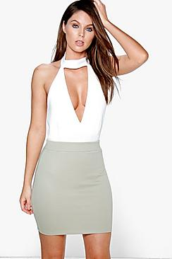 Maeve Ribbed Mini Skirt