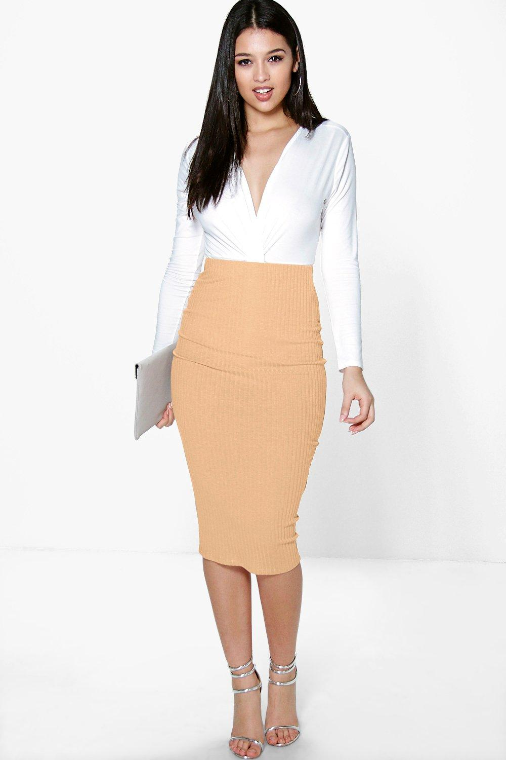 Hayley Soft Knit Midi Skirt
