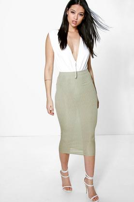 Willow Slinky Rib Midi Skirt