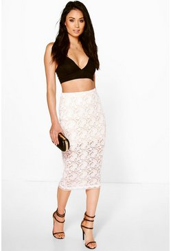 Nori Lace Longer Line Midi Skirt