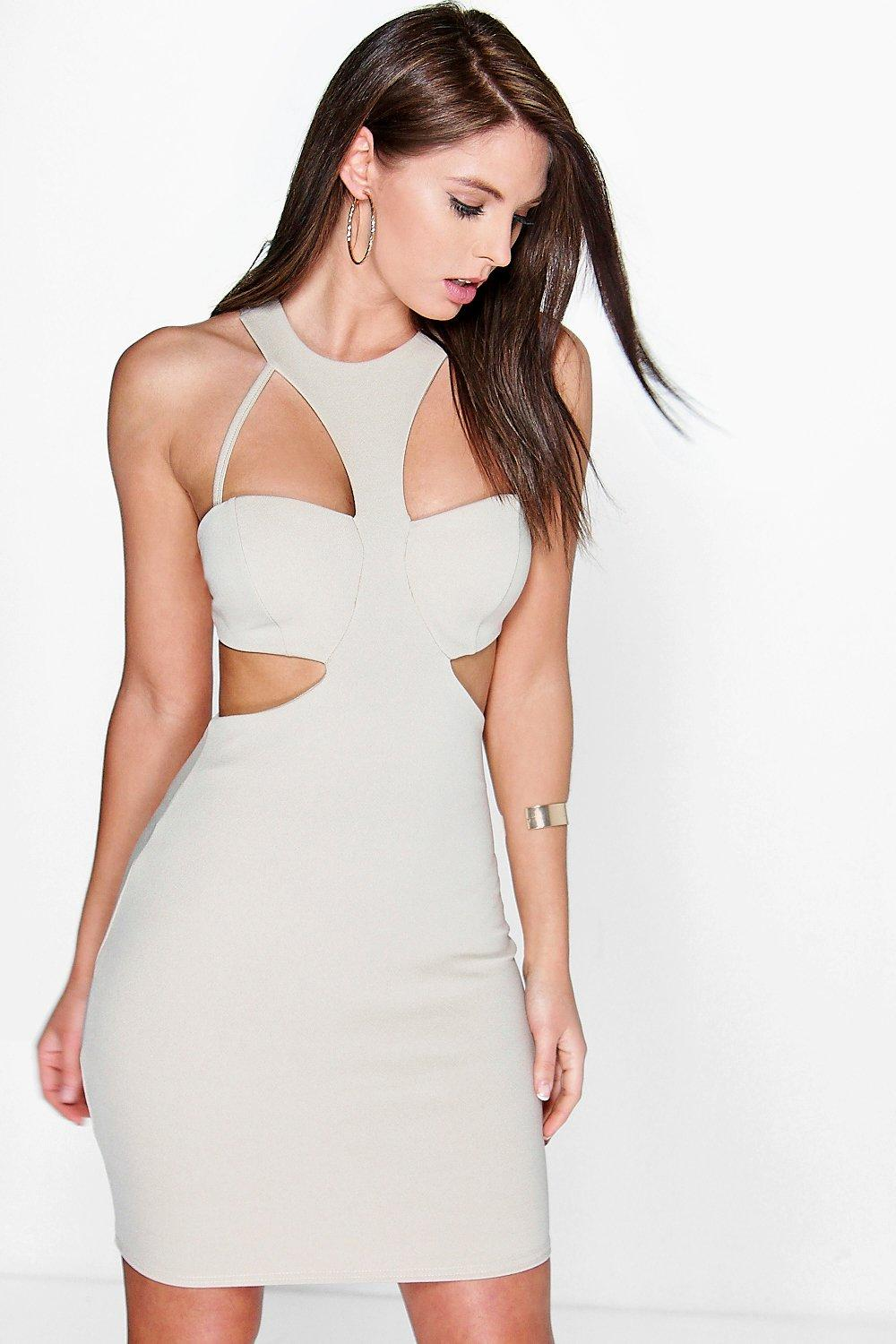 Charlette Cut Out Strappy Bodice Bodycon Dress