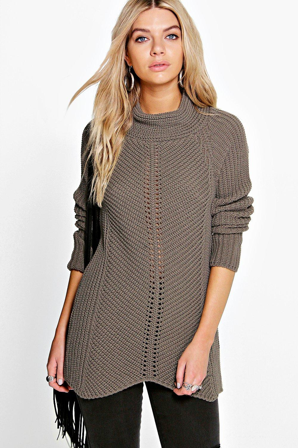 Holly Chunky Funnel Neck Jumper