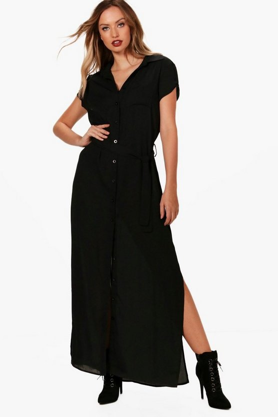 Carraine Maxi Shirt Dress