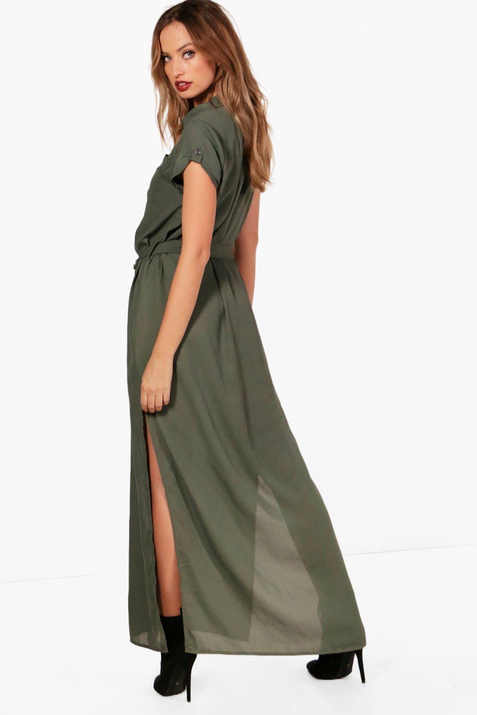 Boohoo Womens Carraine Maxi Shirt Dress Ebay