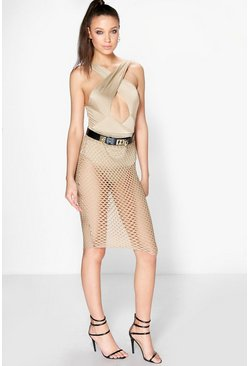 Lily Wrap Bodysuit & Mesh Skirt Co-Ord Set