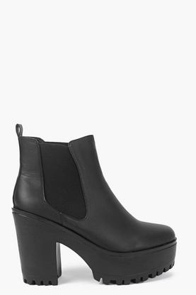 Freya Chunky Cleated Chelsea Boot