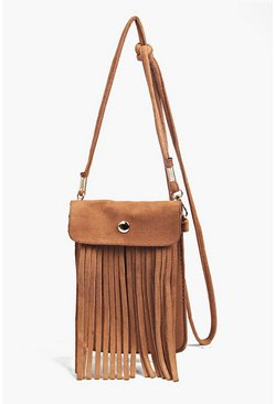 Charli Fringed Cross Body Phone Purse