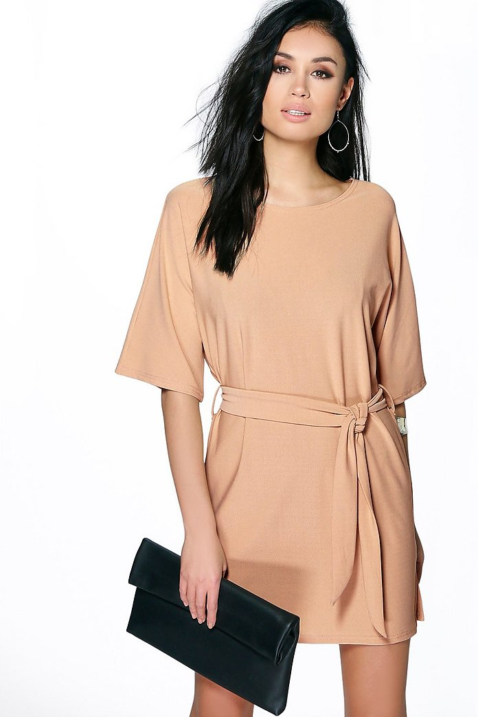 Allie Tie Waist Shift Dress