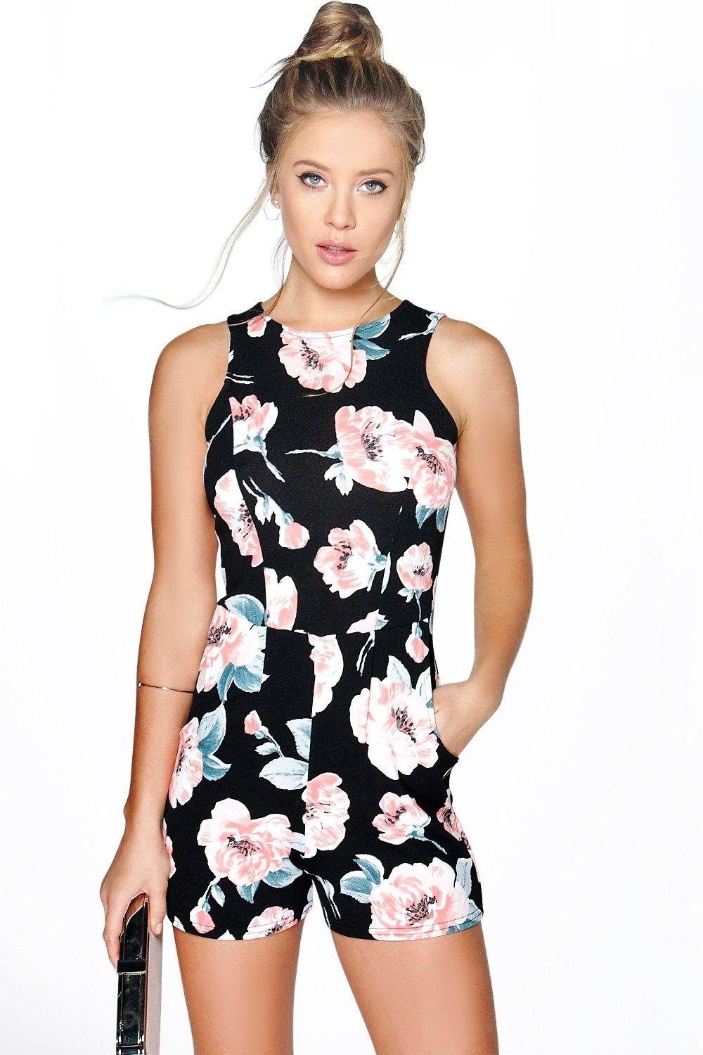 Inga Sleeveless Floral Playsuit