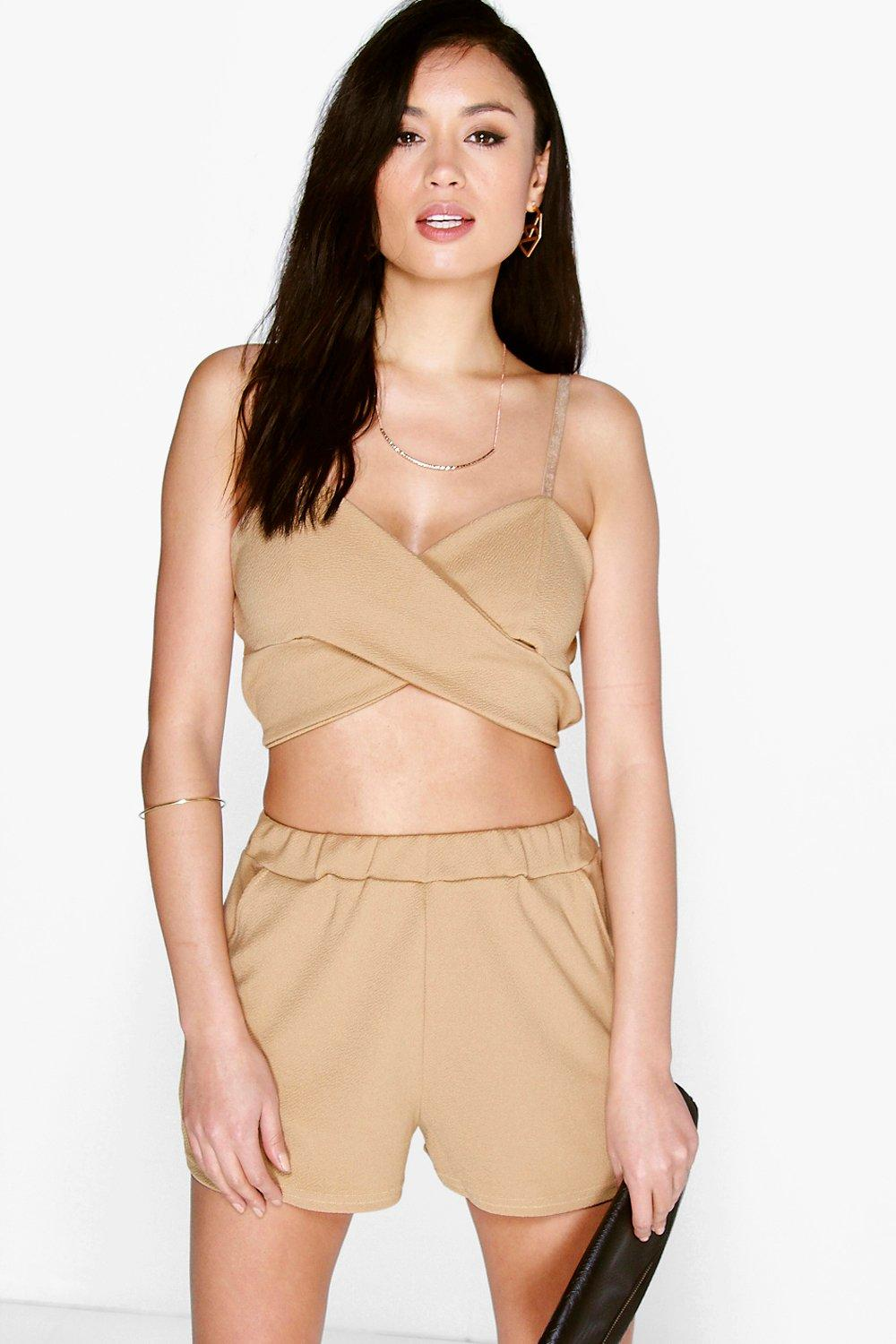 Rianne Cross Front Bralet & Short Co-Ord Set