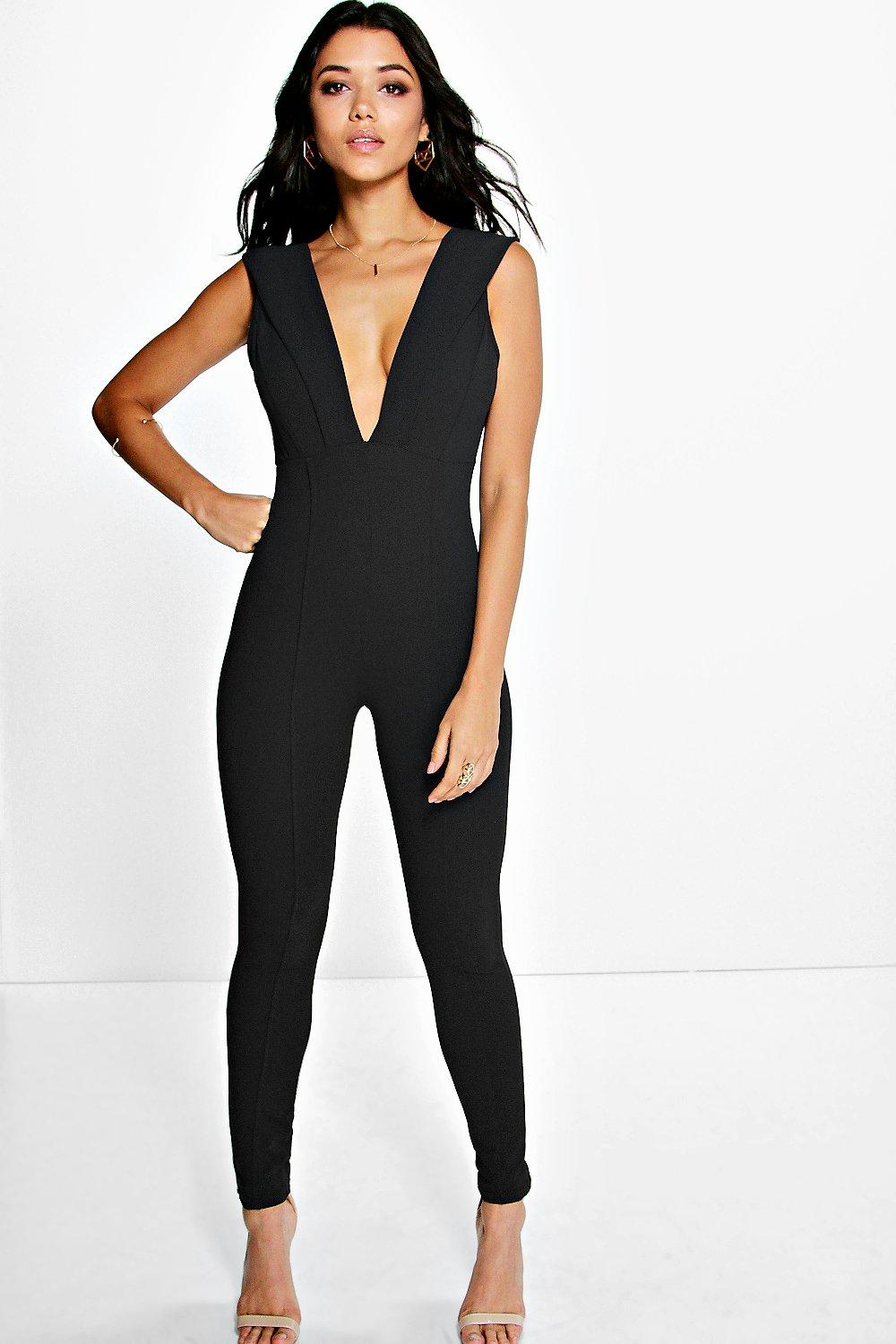 Polly Plunge Neck Jumpsuit