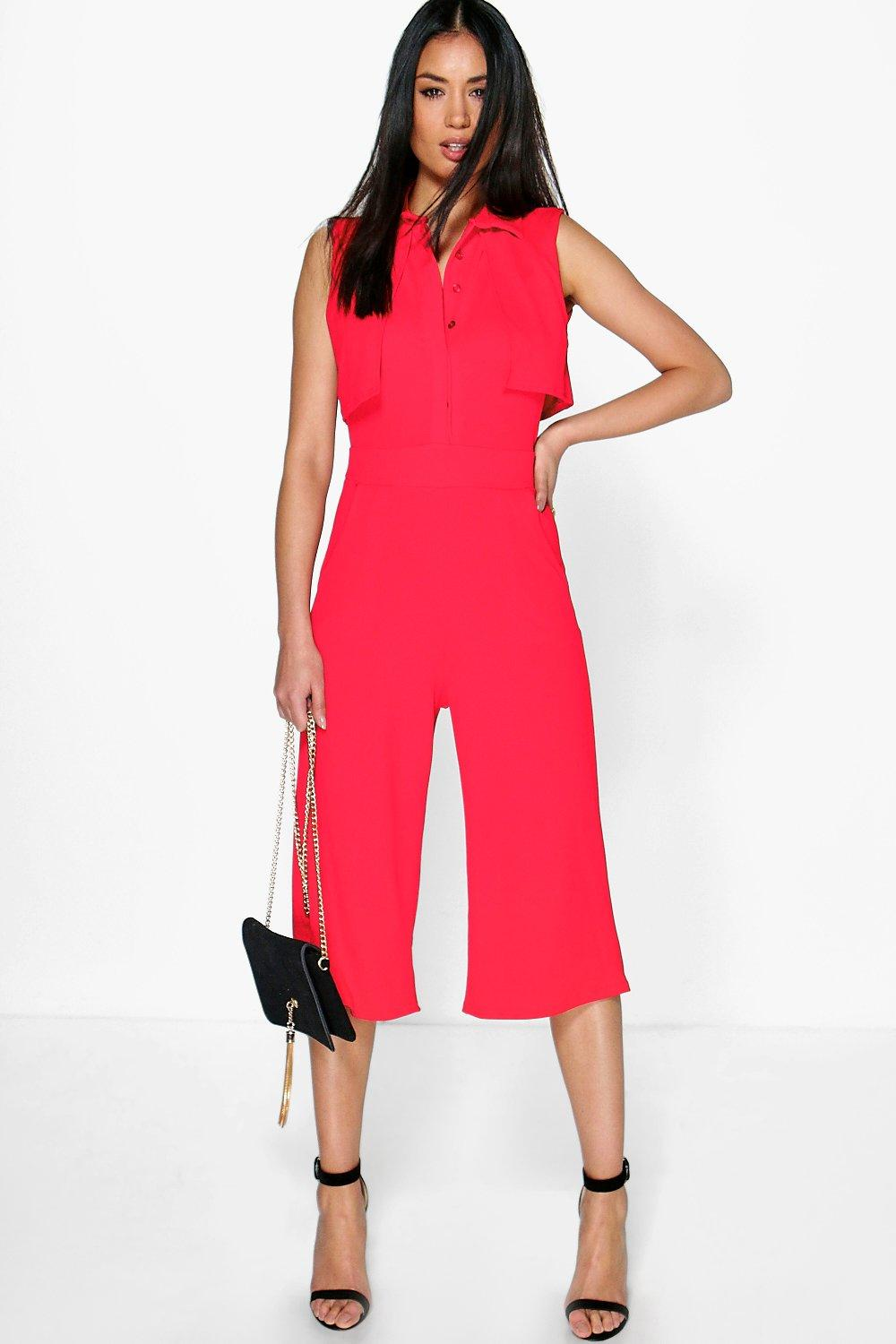Linda Open Back Layer Top Jumpsuit