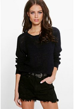Amelie Loose Stitch Soft Knit Jumper