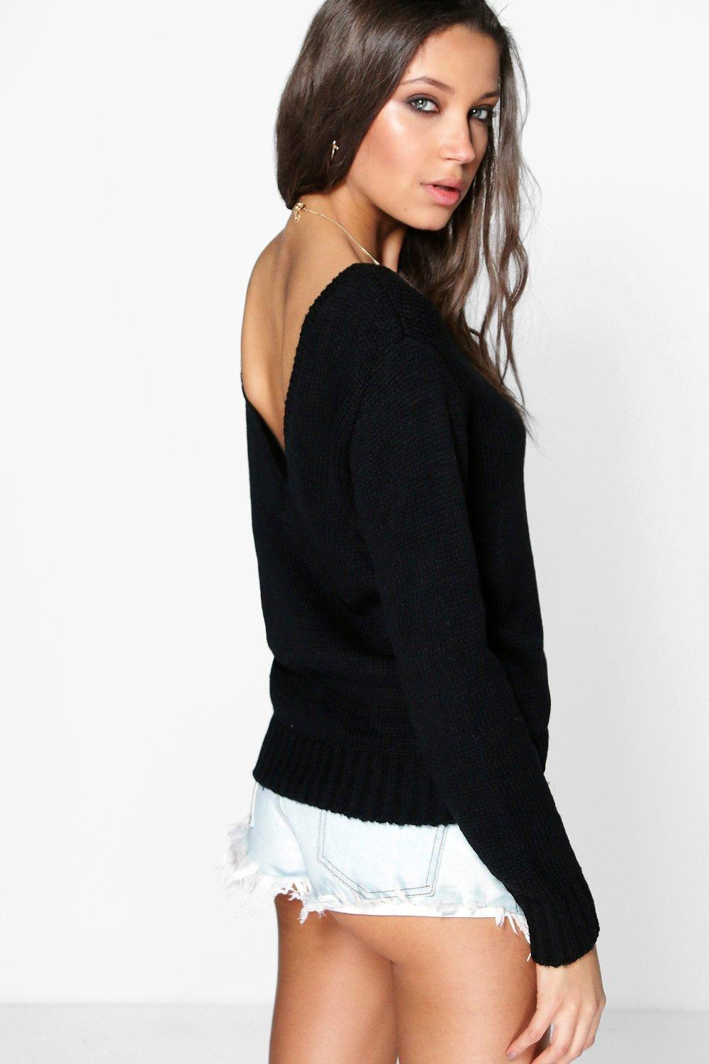 Jasmine Soft Knit V Back Jumper